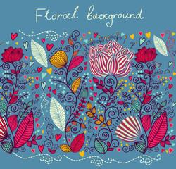 Fototapete - Floral background