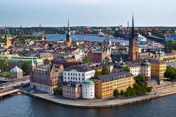 Deurstickers Stockholm Classic view of Stockholm, Sweden