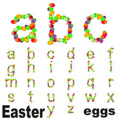 High resolution conceptual fonts set of Easter eggs isolated