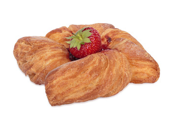Puff pastry. Isolated on white. All in focus