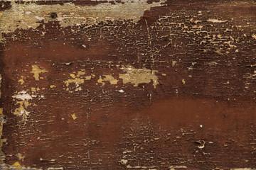 Holz und abblätternde Farbe