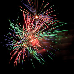 Volleys of beautiful fireworks