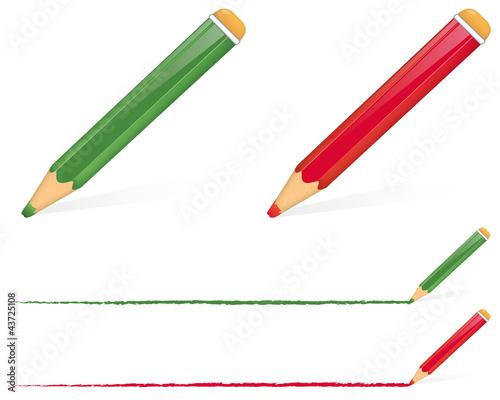 Farbige Stifte - farbig unterstreichen\