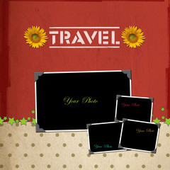 Travel concept scrapbook