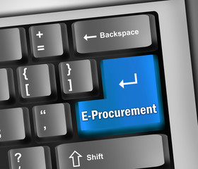 "Keyboard Illustration ""E-Procurement"""
