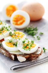 Wholesome Bread with Boiled Egg