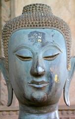 Buddha statue around Phra Kaew Pavilion, Vientiane