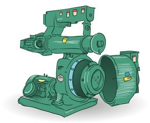 Industrial Machine Illustration