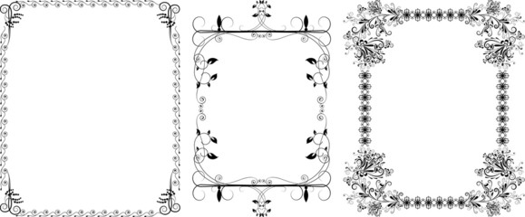 Decorative a black borders
