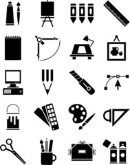 Icons of graphic and plastic arts