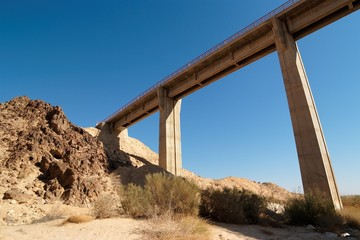 Bridge in the desert near the Large Crater in Israel