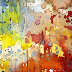 Papiers peints Inspiration painterly Artystyczne tło akwarelowe,