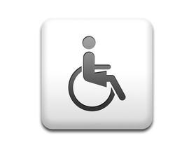 Boton cuadrado blanco simbolo minusvalida