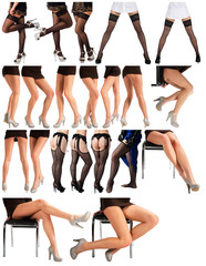 collection of female legs