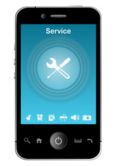 smartphone with service app