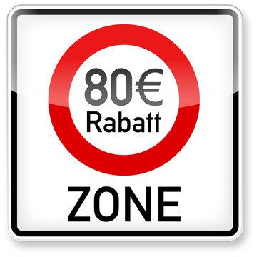 80 Euro Rabatt-Zone (3D)