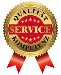 100 % Service - Qualität - Kompetenz - rot