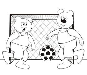 bear-football  - coloring book
