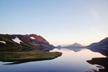 Obraz Alftavatn lake, Iceland - fototapety do salonu