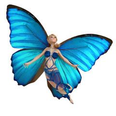 Foto op Aluminium Feeën en elfen elf butterfly is flying