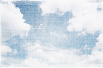 Textured vintage cloudy sky background