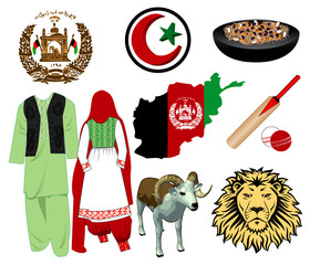 Afghanistan icons