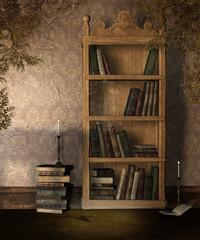 Photo Blinds Library Stary regał na książki