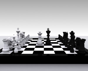 3D Chess - King and Queen
