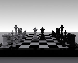 Chess 3D - clash of Queens