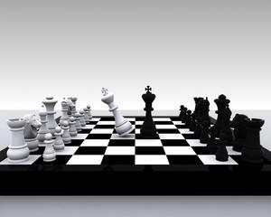 Chess 3D - clash between King