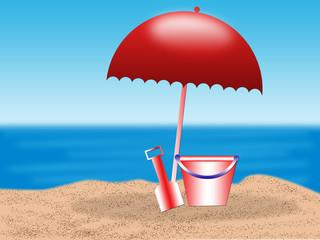 summer season--playing on the beach