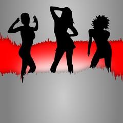 Tanzende junge Frauen - Party