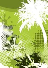 Palme - Abstrakter Hintergrund