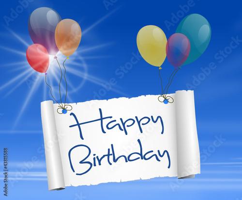 happy birthday luftballons stockfotos und lizenzfreie vektoren auf bild 43815588. Black Bedroom Furniture Sets. Home Design Ideas