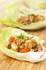 Homemade Asian Chicken Lettuce Wraps
