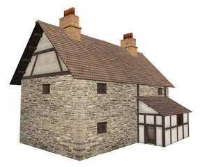 Wall Mural - Medieval Country  Farm House