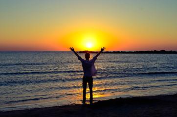 happy on sunrise