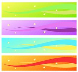 Obraz star banners set - fototapety do salonu