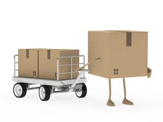 package figure draw transport trolley