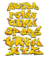 Graffiti Font Urban Art Alphabet