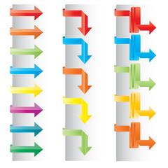 Vector color arrow set
