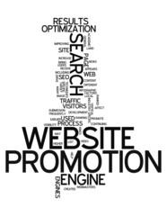 "Word Cloud ""Website Promotion"""
