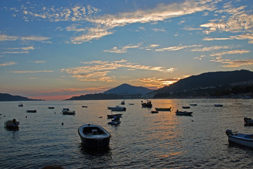 Montenegrin coast at sunset