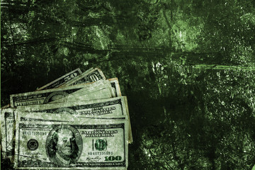 Dollars and background