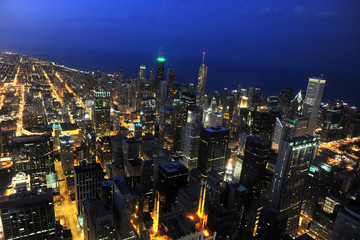 Aufkleber - Aerial mView of Chicago