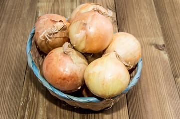Heap of Onions in a basket