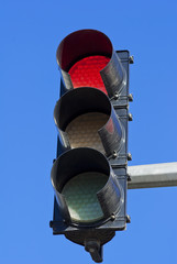 image of Red color on the traffic light