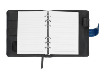 open blank page note book