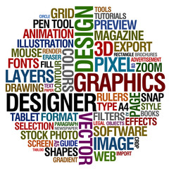graphic design words
