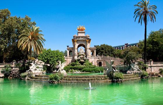The Parc de la Ciutadella. Barcelona.